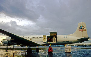 Aviateca - Douglas DC-6A of Aviateca Cargo Service at Miami Airport in 1971