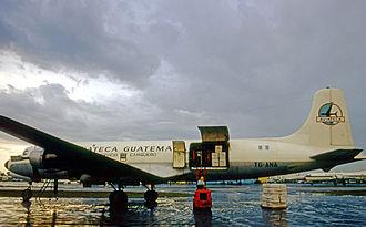 Aviateca - Douglas DC-6A of Aviateca Cargo Service at Miami Airport in 1971