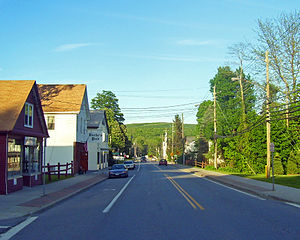 Patterson, New York - Looking east along NY 311 through downtown
