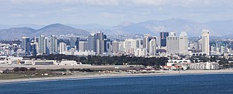 Downtown San Diego - Downtown San Diego skyline from the Cabrillo National Monument