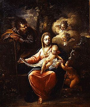 Panagiotis Doxaras - Holy Family by Panagiotis Doxaras.