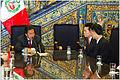 Dr. Jaerock Lee meets with Peruvian president Alejandro Toledo(2004).jpg