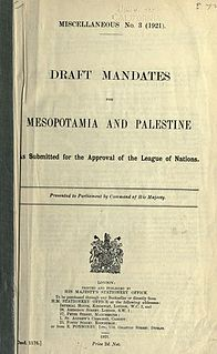 proposed League of Nations Mandate