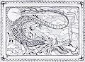 Dragon design, possibly for a book jacket - anon - circa 1900.jpg