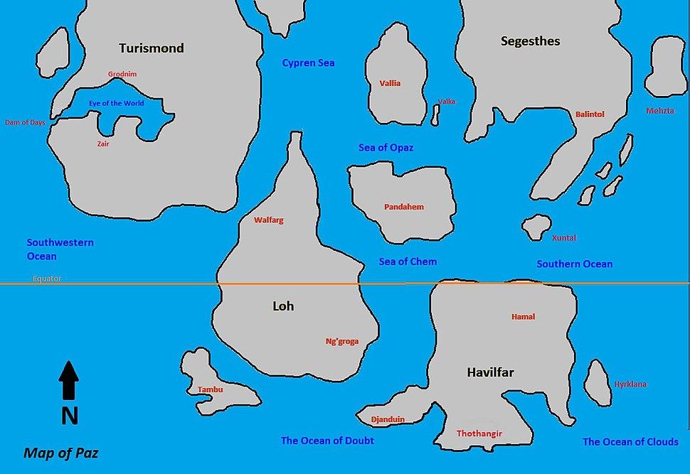 Dray Prescot Map of Paz