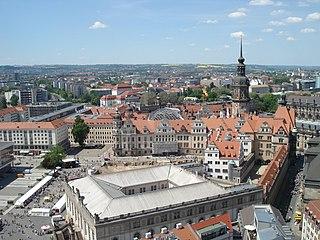 Blick über Dresden von der Frauenkirche aus