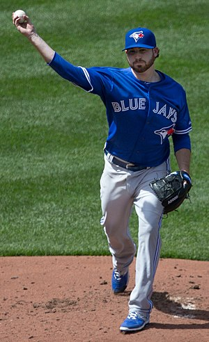 Drew Hutchison - Hutchison with the Toronto Blue Jays in 2015