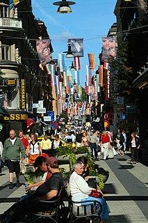 Drottninggatan street in central Stockholm