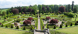 "Inventory of Gardens and Designed Landscapes in Scotland - The gardens at Drummond Castle are listed on the Inventory, as ""the best example of formal terraced gardens in Scotland"", and are assessed as ""outstanding"" for four of six values"