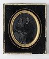 Dubbelporträtt av komminister Carl Kinnander och hans fästmö Honorine Tisell. Från 1850-talet - Nordiska Museet - NMA.0052387 1.jpg