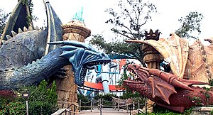 Dragon Challenge - Entrance of the former Dueling Dragons coasters at Islands of Adventure