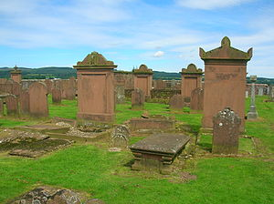 Dunscore - Dunscore Old Kirk burial ground.