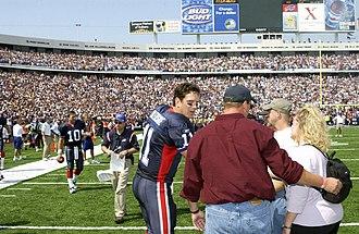 2003 Buffalo Bills season - Quarterback Drew Bledsoe meets families of deceased soldiers, September 7, 2003