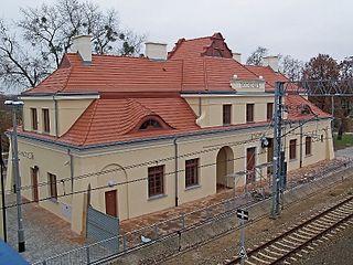 railway station in Nowy Dwór Mazowiecki, Poland