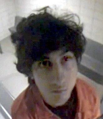 Boston Marathon bombing - Dzhokhar Tsarnaev in a court holding cell on July 10, 2013
