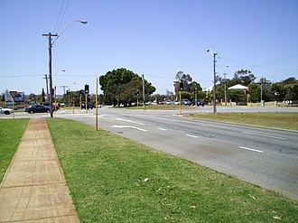 Karrinyup Road - Looking east towards Francis Avenue in Karrinyup
