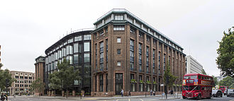 Bracken House, London - The north and east façades, from the north-east, looking south-west