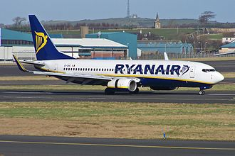 Glasgow Prestwick Airport - Ryanair Boeing 737-800 in Prestwick