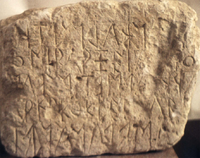 photograph of the earliest Eteocretan inscription from Praisos