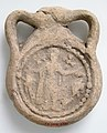 Earthenware Pilgrim Flask with Saint Menas MET sf17-194-2291s2.jpg