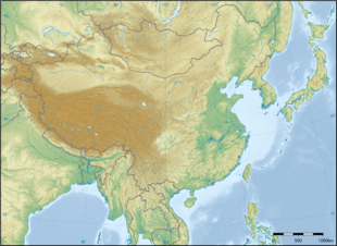 Topographic map of East Asia