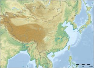 Topografische Karte von Ostasien