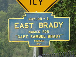 Official logo of East Brady, Pennsylvania