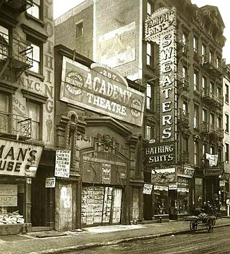 Houston Street - East Houston Street between Clinton and Suffolk Streets in the 1920s