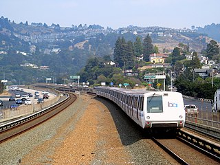 Yellow rail line of BART (San Francisco Bay Area)