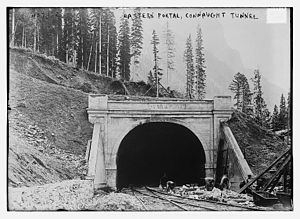 Connaught Tunnel - Eastern entrance in 1916