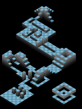 Level (video gaming) - Layout of a level in the puzzle game Edge