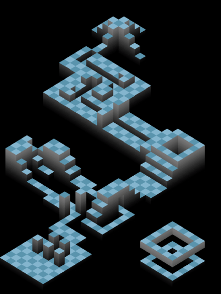 Layout of a level in the puzzle game Edge Edge (video game) level layout.png