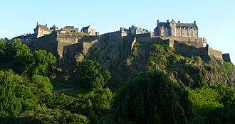 Edinburgh Castle - The Castle seen from the North