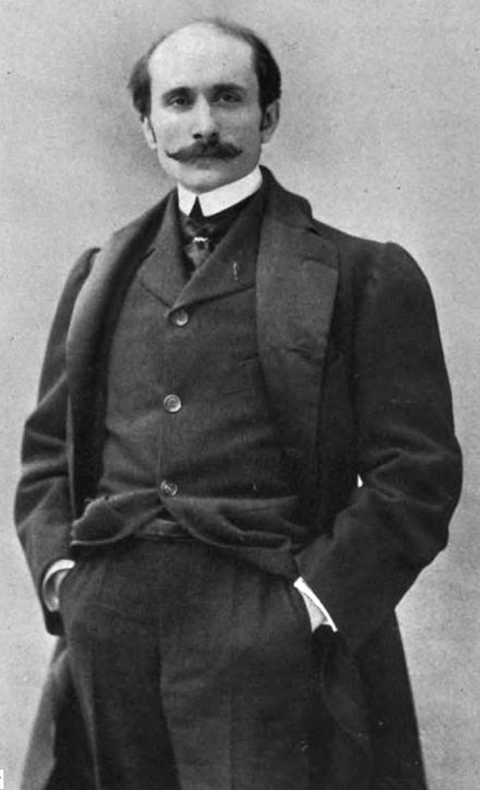 Edmond Rostand, aged 29, at the time of the first performance of Cyrano, 1898 Edmond Rostand 001.jpg