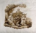 Edward Jenner, dressed in antique robes, vaccinates a baby o Wellcome V0018749.jpg