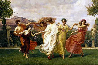 Horae - A detail of Horae Serenae by Edward Poynter (1894)