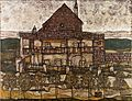 Egon Schiele - House with Shingle Roof (Old House II) - Google Art Project.jpg