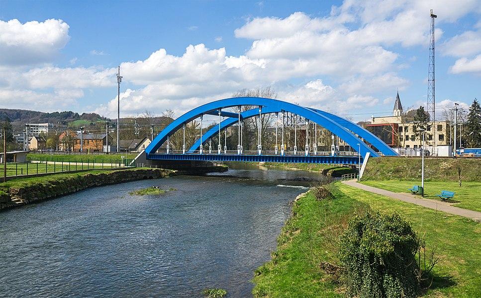 Railway bridge over the Alzette in Ettelbruck