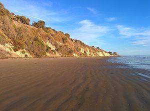 El Capitán State Beach - El Capitán State Beach looking east