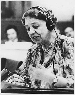 Eleanor Roosevelt az ENSZ-ben (1947)