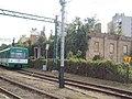 Electric train and the depot at Hwy 30. Listed ID -12565. - Gödöllő.JPG
