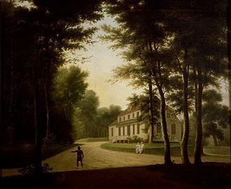 Rolighed (Skodsborg) - Rolighed in c. 1805. Painting by Elias Meyer