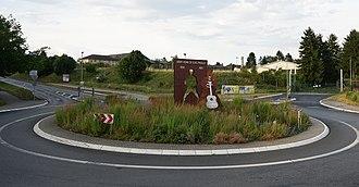 Friedberg, Hesse - Elvis Presley-Monument at former Ray Barracks, Friedberg (Hesse), Germany