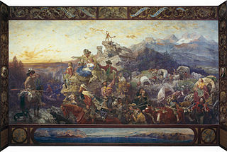 <i>Westward the Course of Empire Takes Its Way</i> painting by Emanuel Leutze