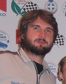 Emanuele Calchetti Italian rally co-driver