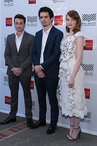 La La Land (film) - Hurwitz, Chazelle, and Stone at the Mill Valley Film Festival in October 2016