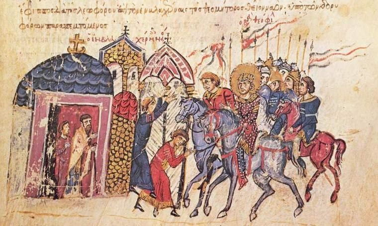 Emperor Theophilus visits St Mary of Blachernae
