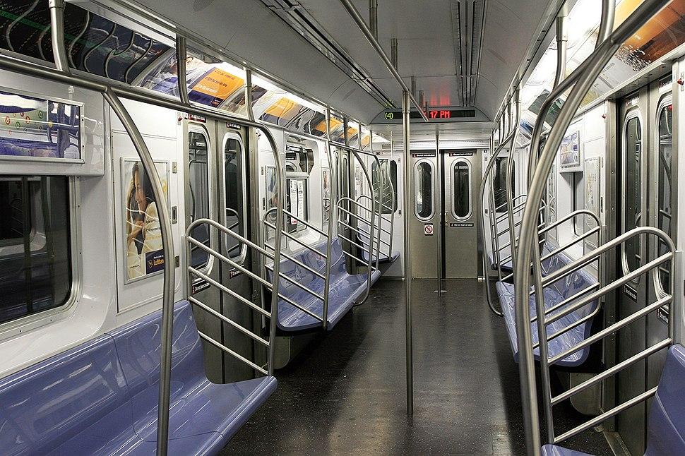 Empty subway in NYC