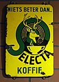Enamel advertising sign, Electa koffie.JPG