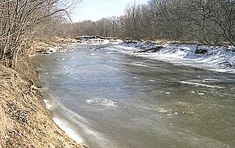 Riverside, Iowa - The English River at Riverside